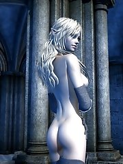 3d elf with perfect butt